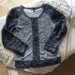 J. Crew zip up cardigan size xs